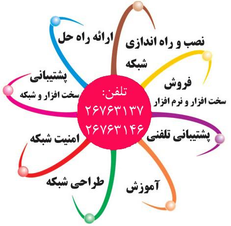 خدمات کامپیوتر ،  شبکه،   لپ تاپ و پرینتر  منطقه 2 (منطقه دو) ، سعادت آباد، شهرک غرب ، میدان کاج